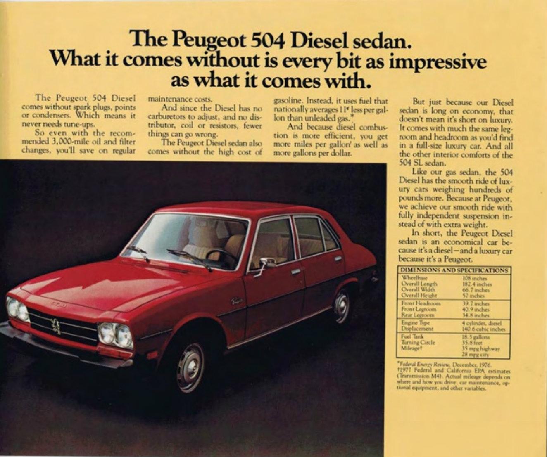 Peugeot 504 604 Brochure