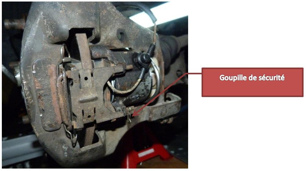 Changement des plaquettes de frein arri re sur peugeot 504 for Garage changement plaquette de frein
