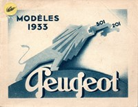 Catalogue Peugeot 1933