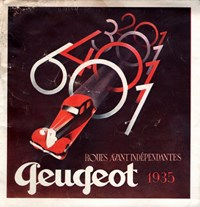 Catalogue Peugeot 1935