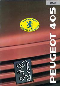 Catalogue 405 Break 1989